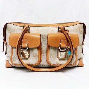 Dooney & Bourke Cream Colored Pocket Tote